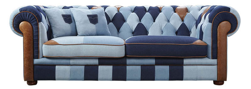 Sofa Jazz Denim Patchwork