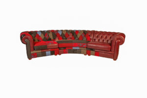 Curved Patchwork Sofa