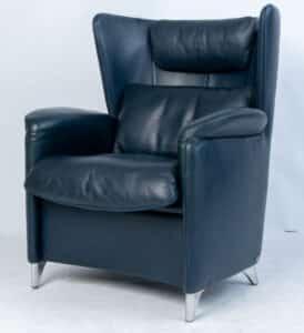 Twee DeSede fauteuils rundleder Refurbished Verkocht!